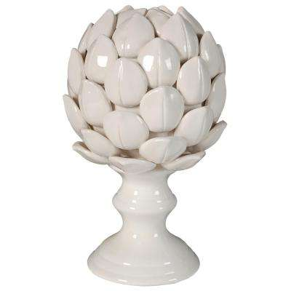 10 in. Albinia Porcelain Artichoke Decorative Statue