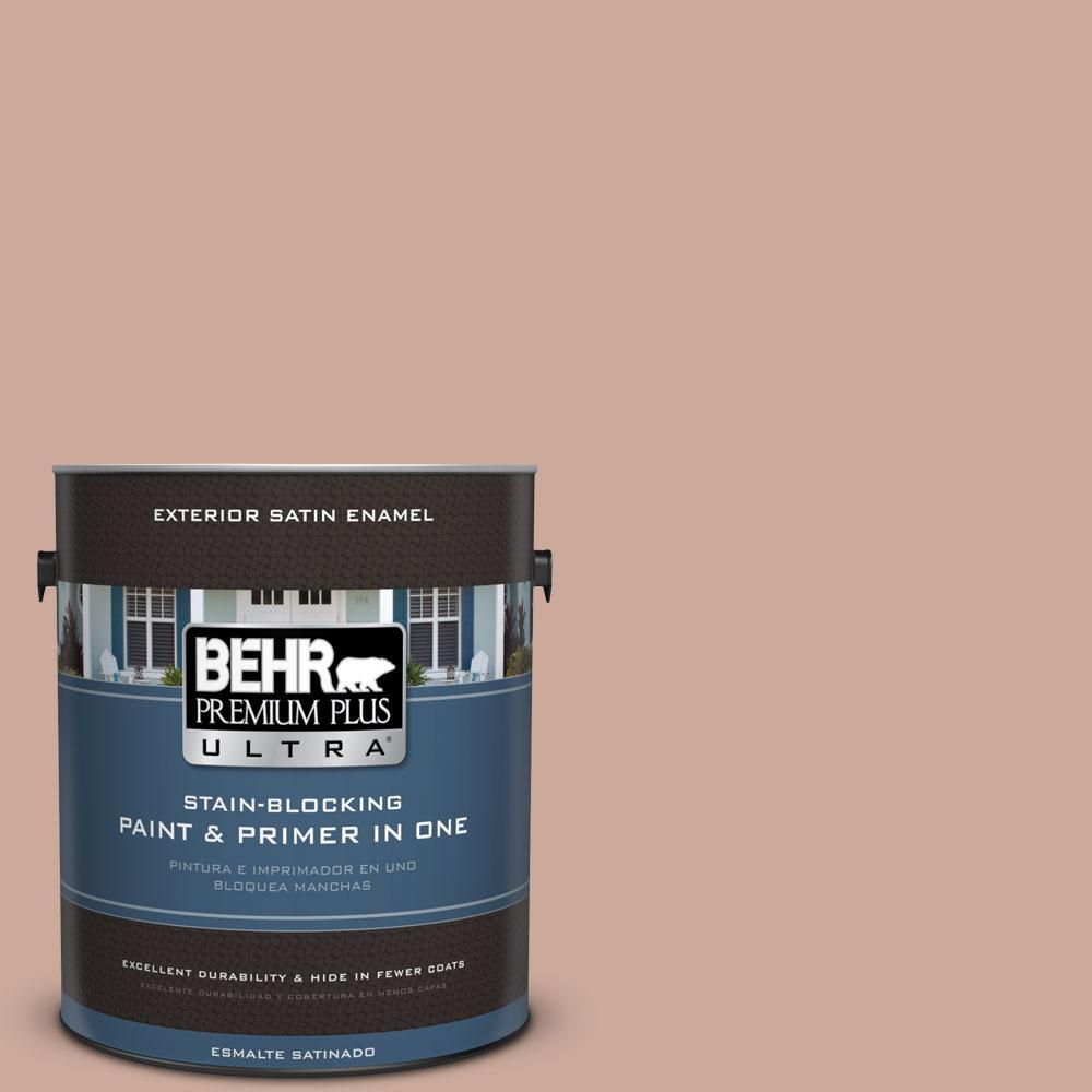 BEHR Premium Plus Ultra 1-gal. #ICC-97 Powdered Allspice Satin Enamel Exterior Paint