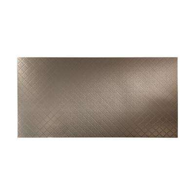 96 in. x 48 in. Quilted Decorative Wall Panel in Galvanized Steel