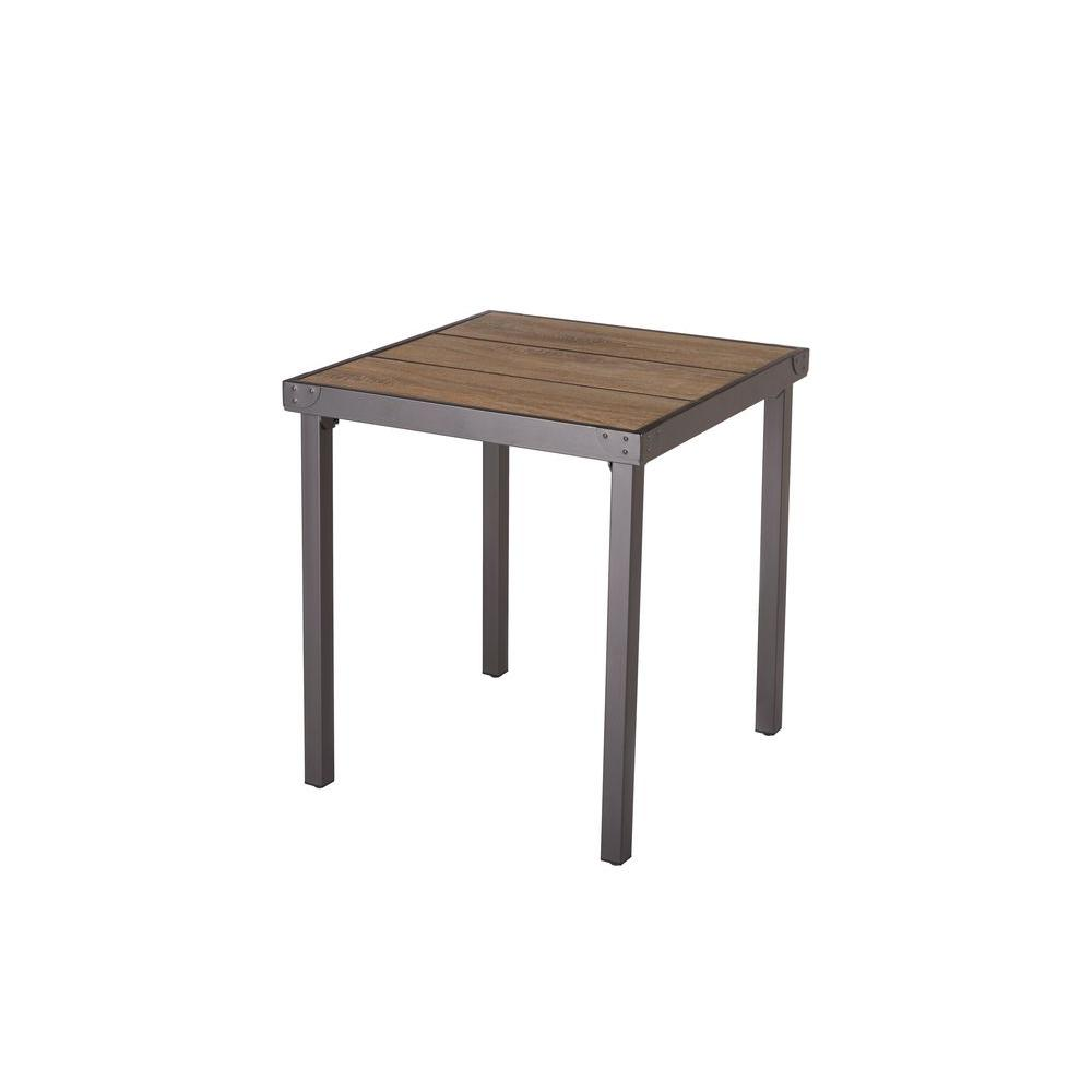 Hampton Bay Vernon Hills 25 In Patio Bistro Table D11215 Tb The