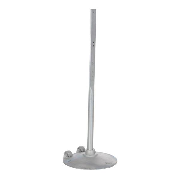 48 in. x 18 in. Dia Steel Sign Stand with Wheels
