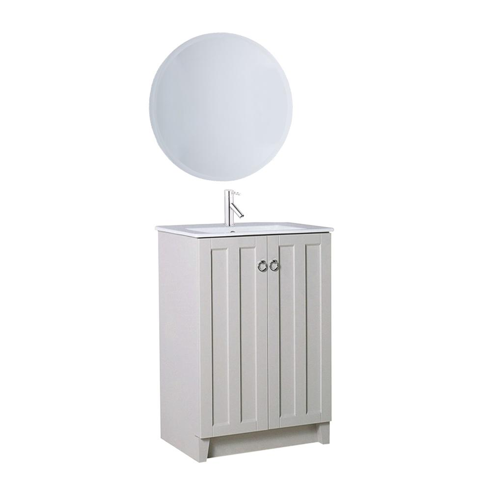 Paolo 24 in. W x 18 in. Bath Vanity in Light