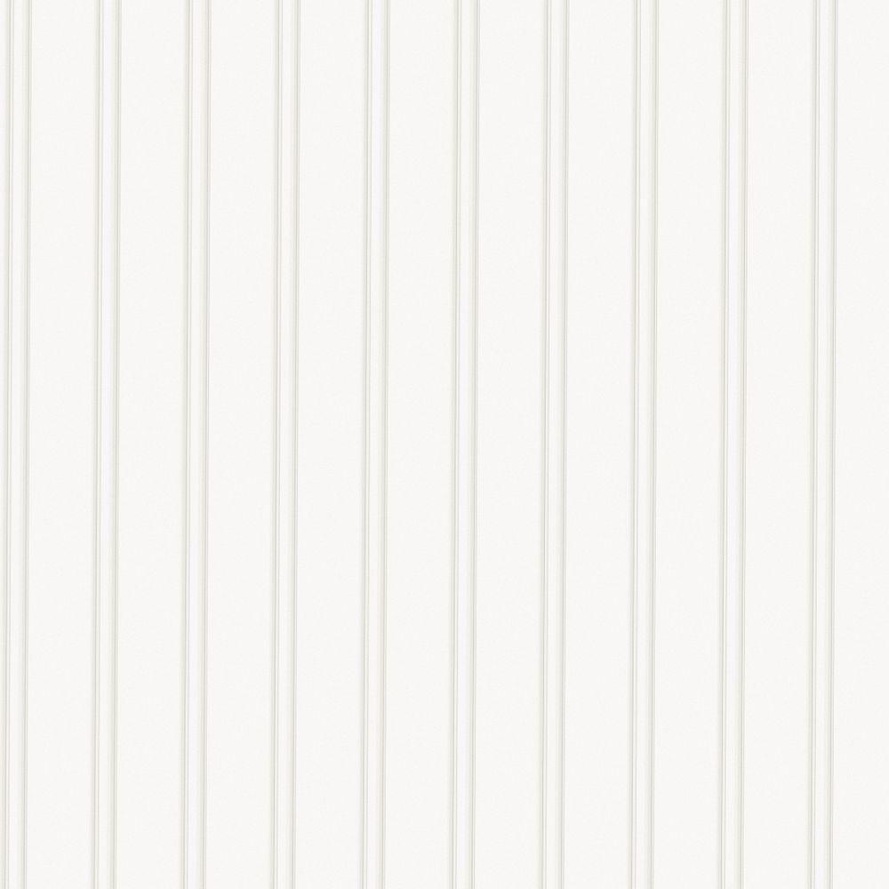 Graham & Brown - White Vinyl Pre-Pasted Moisture Resistant Wallpaper Roll (Covers 56 Sq. Ft.)