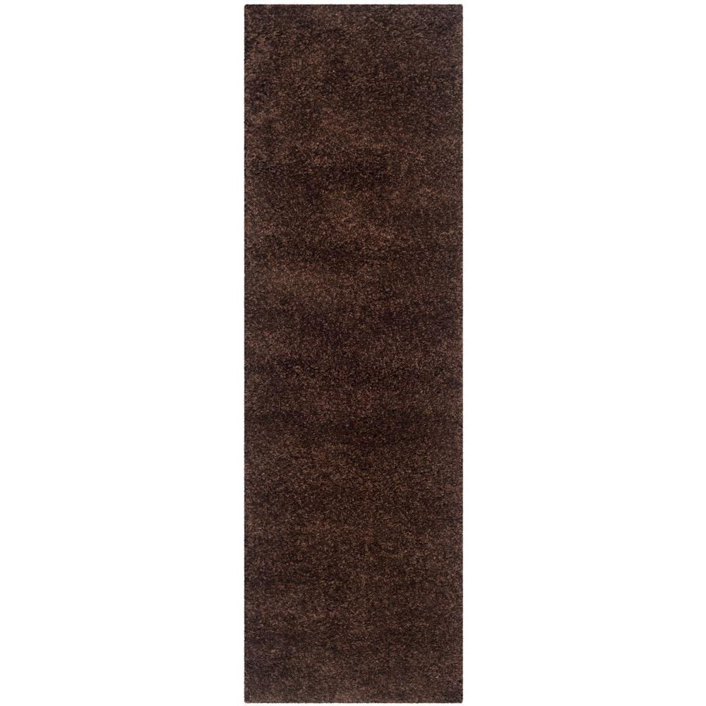 California Shag Brown 2 ft. 3 in. x 11 ft. Runner