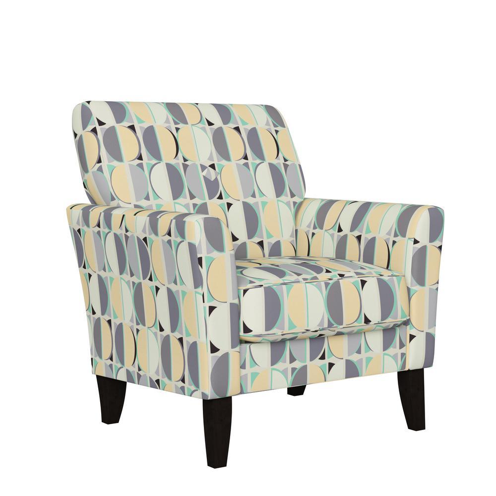 Travix Flared Arm Chair in Lavender Purple Modern Half Moon Print
