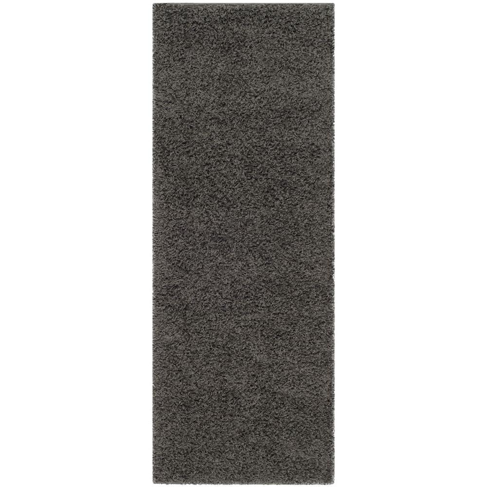 Athens Shag Dark Gray 2 ft. 3 in. x 10 ft.