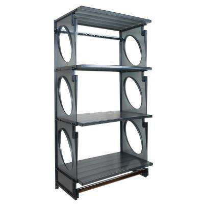 Urban Elite 48 in. H x 25.5 in. W x 14 in. D Closet Shelving Kit in Black