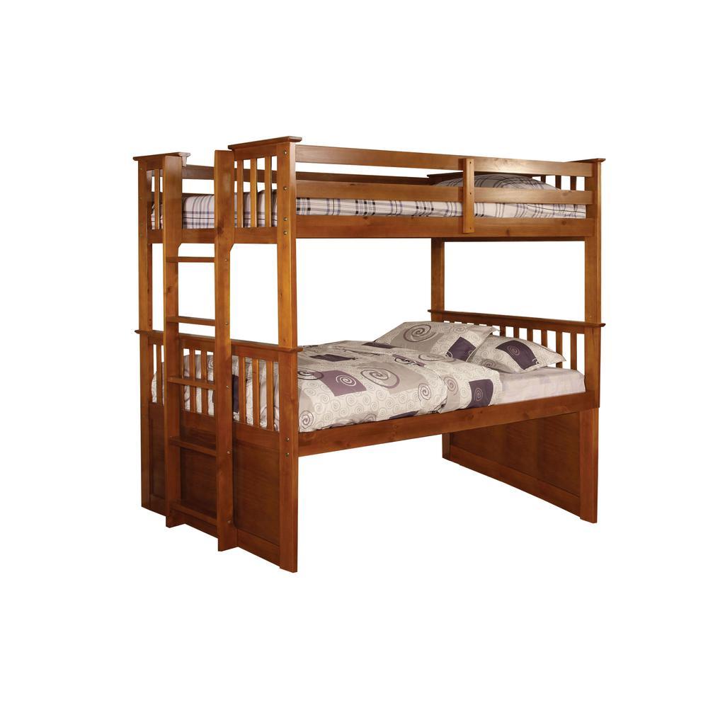 University II Oak Twin Bunk Bed