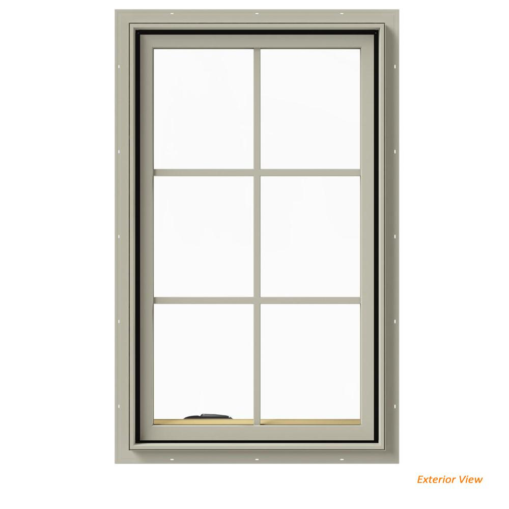 24 in. x 40 in. W-2500 Series Desert Sand Painted Clad