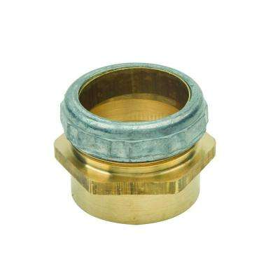 1-1/2 in. O.D. Compression x 1-1/2 in. I.D. Female Sweat Brass Waste Connector with Die Cast Nut in Rough Finish