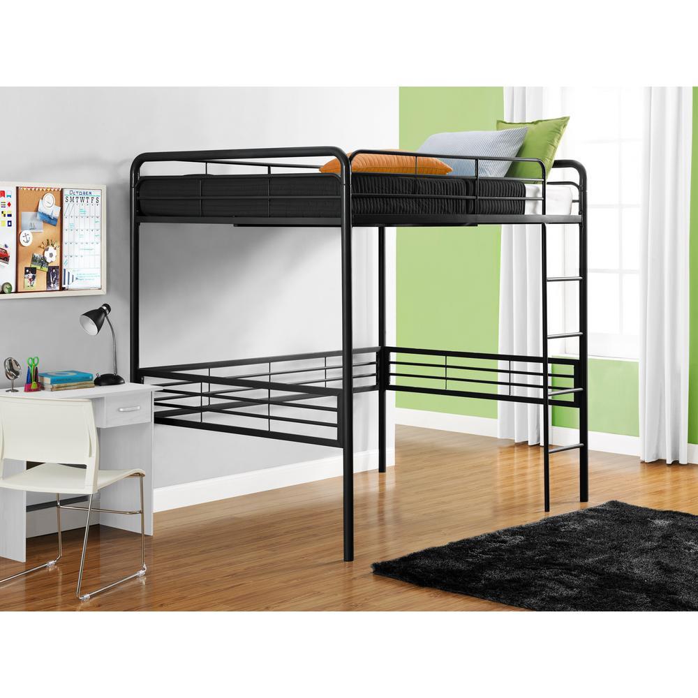 Full Loft Bed, Black