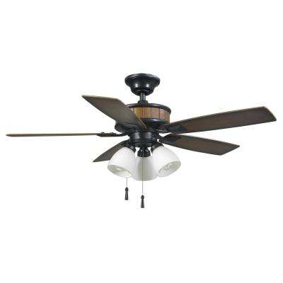 3 lights quick install hampton bay ceiling fans with lights led indooroutdoor natural iron ceiling fan with light kit aloadofball Images