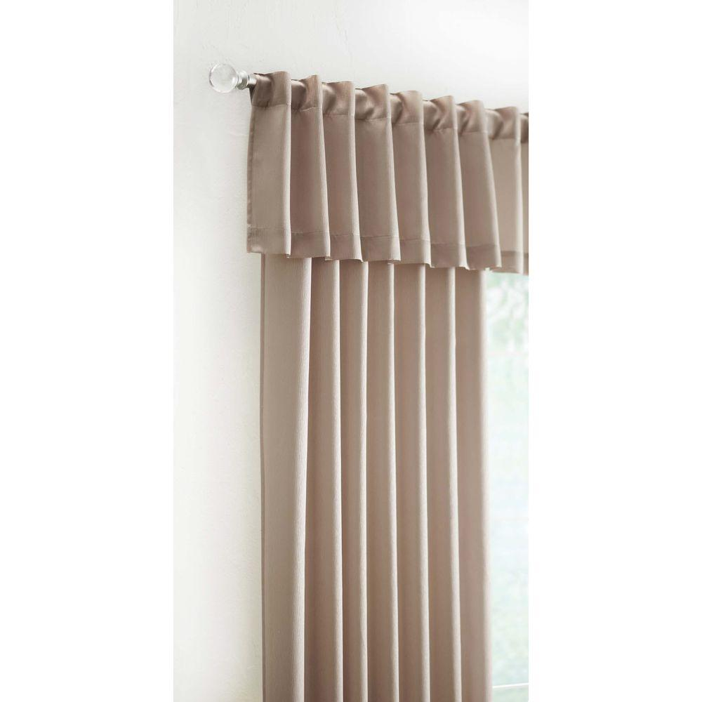 Home Decorators Collection 15 In L Monaco Lined Polyester Valance In Sand Monaco 251 409 The