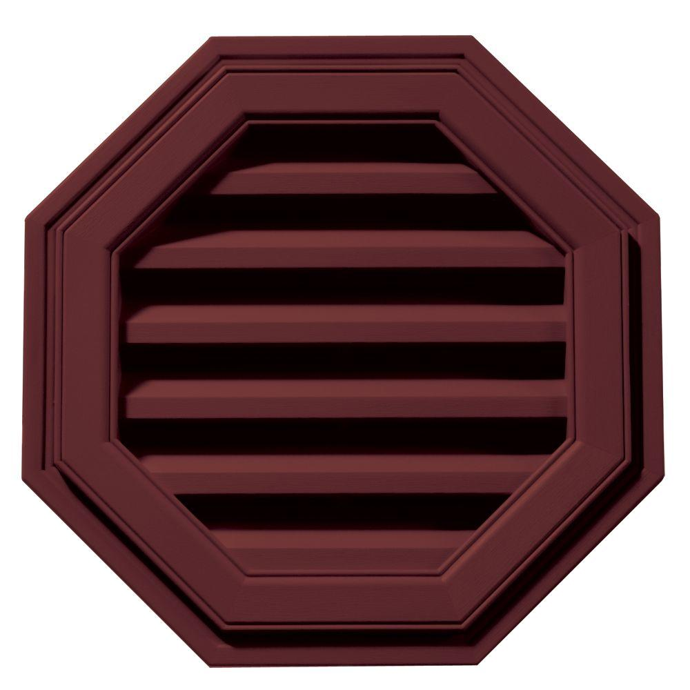 Builders Edge 18 in. Octagon Gable Vent in Wineberry