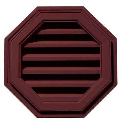 18 in. Octagon Gable Vent in Wineberry