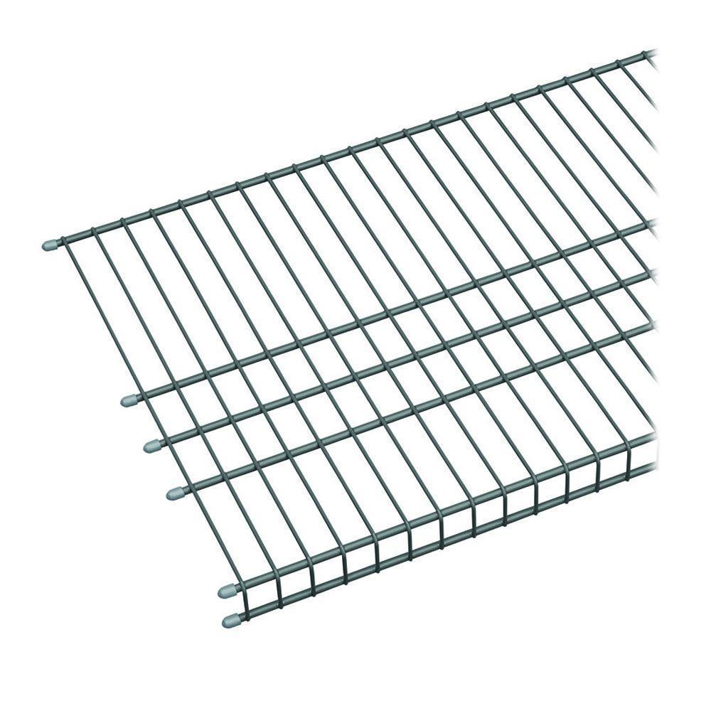Maximum Load 72 in. W x 16 in. D Silver Ventilated Wire Shelf
