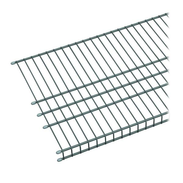 Maximum Load 72 in. W x 16 in. D Silver Ventilated Wire Shelf
