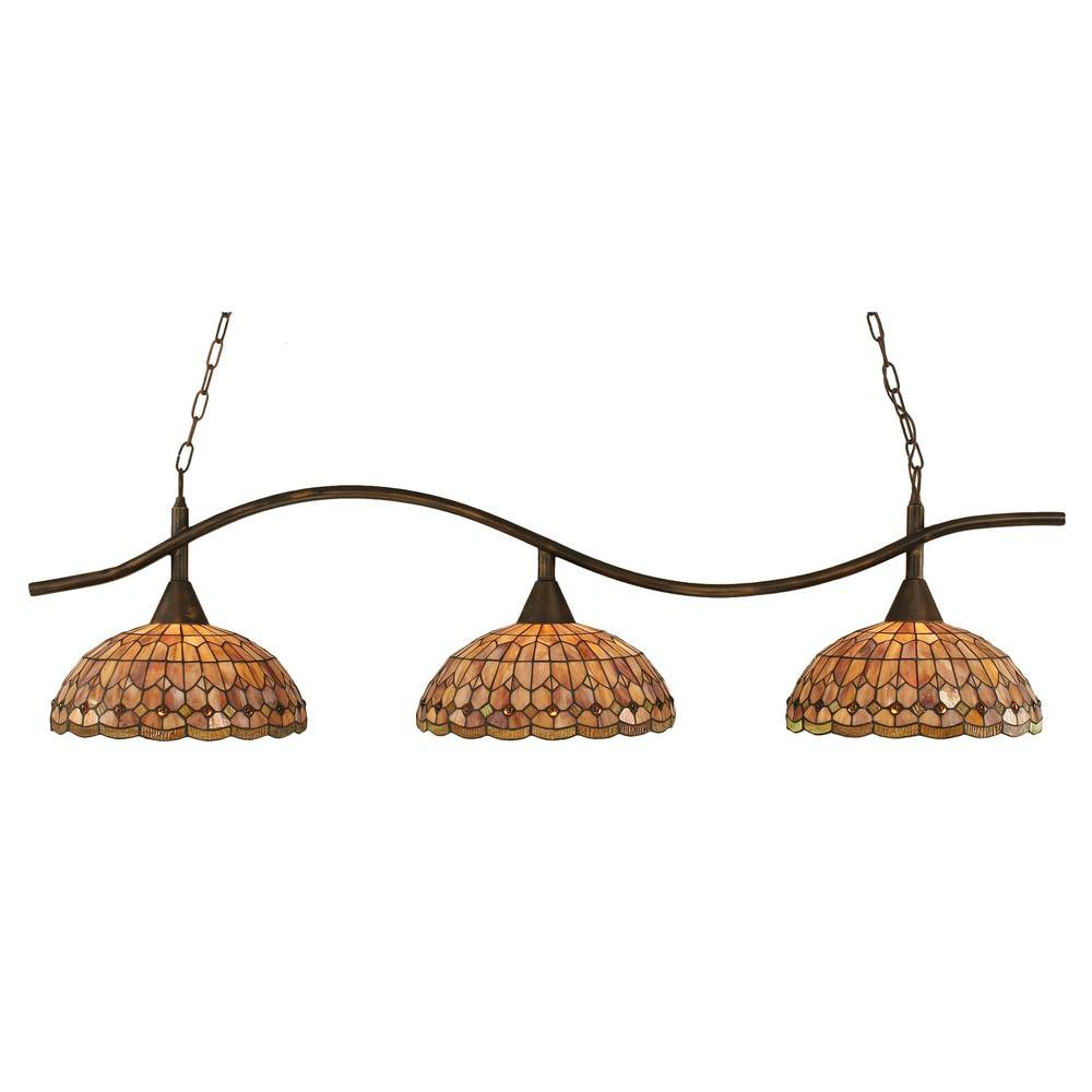 Filament Design Concord 3-Light Bronze Incandescent Ceiling Island Light