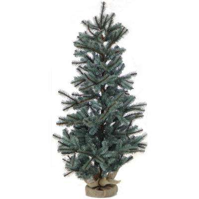 4 ft. Heritage Pine Artificial Tree with Burlap Base