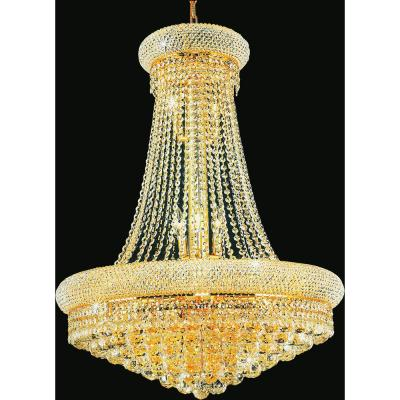 Empire 19-light gold chandelier