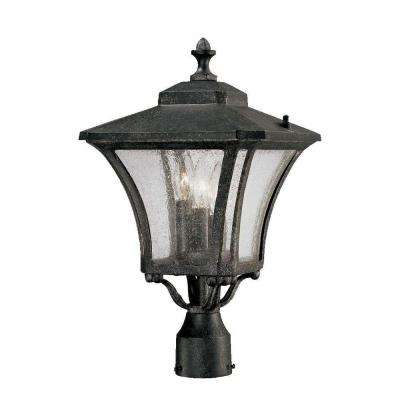 Tuscan 3-Light Stone Outdoor Post Light