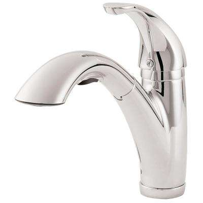Parisa Single-Handle Pull-Out Sprayer Kitchen Faucet in Polished Chrome