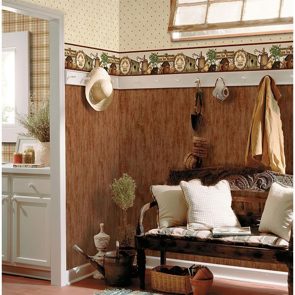 Sunny Honey Plaid Wallpaper