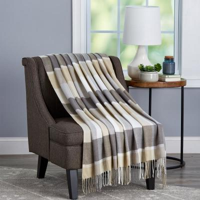 Oversized Faux Cashmere Acrylic Fireside Throw Blanket