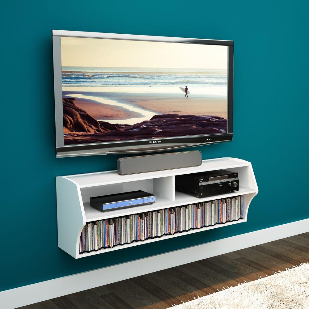 Altus White Laminate Media Storage