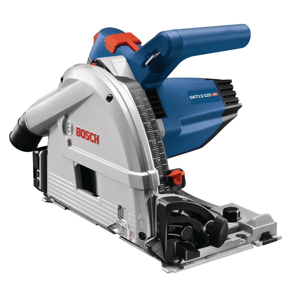 Bosch 6-1/2 in. 13 Amp Corded Track Saw with Plunge Action and L-Boxx Carrying Case