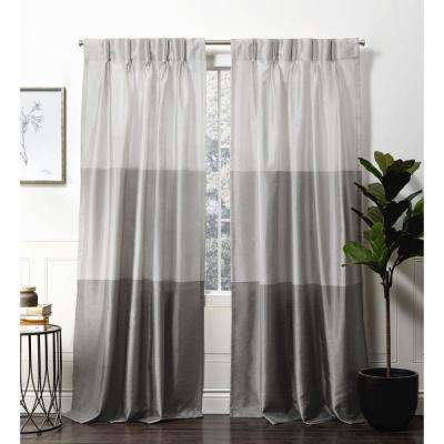 Chateau Black Pearl  Room Darkening Triple Pinch Pleat Top Curtain Panel -  27 in. W x 84 in. L  (2-Panel)