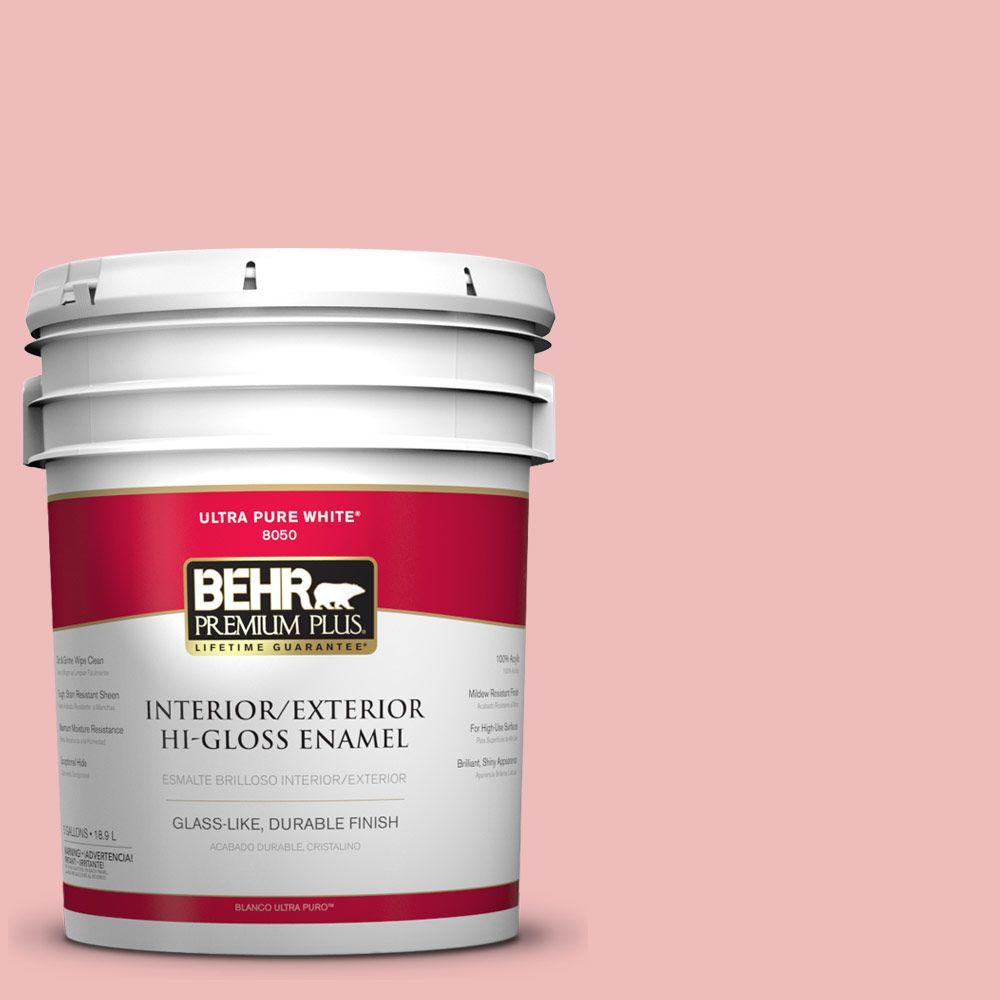BEHR Premium Plus Home Decorators Collection 5-gal. #HDC-CT-09 Bridal Bouquet Hi-Gloss Enamel Interior/Exterior Paint