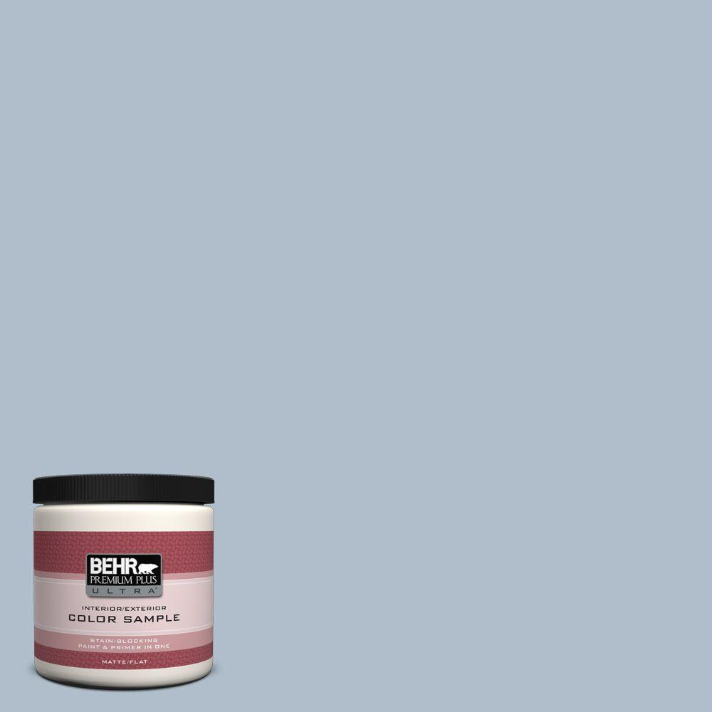 BEHR Premium Plus Ultra 8 oz. #570E-3 Liberty Gray Interior/Exterior Paint Sample