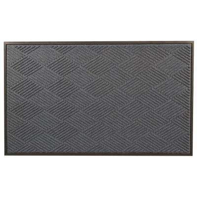 Opus Blue 24 in. x 36 in. Rubber-Backed Entrance Mat