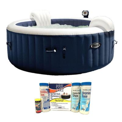 28405E Pure Spa 4-Person Inflatable Hot Tub with Chemical Maintenance Kit