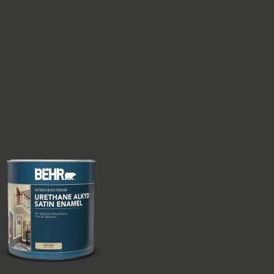 1 qt. Home Decorators Collection #HDC-MD-04 Totally Black Satin Enamel Urethane Alkyd Interior/Exterior Paint