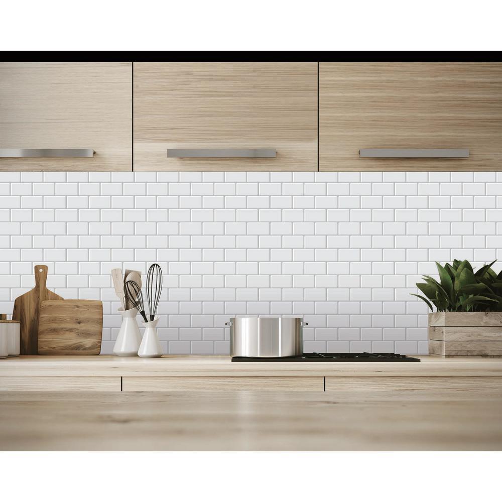 "10 Packs,12/""x12/"" Peel and stick tile Kitchen Room Backsplash Decor"