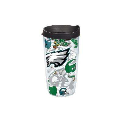 NFL Philadelphia Eagles All Over 16 oz. Double Walled Insulated Tumbler with Travel Lid