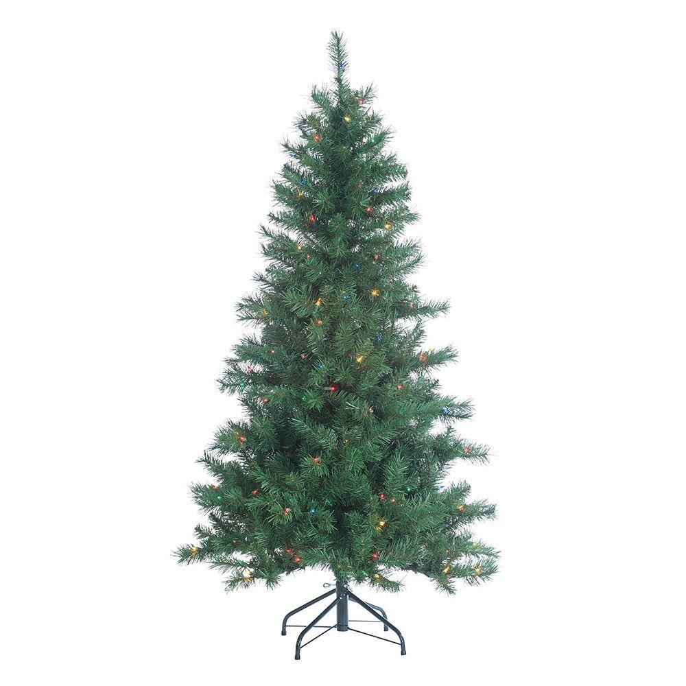 Multi Color Pre Lit Christmas Trees: Sterling 5 Ft. Pre-Lit Colorado Spruce Artificial
