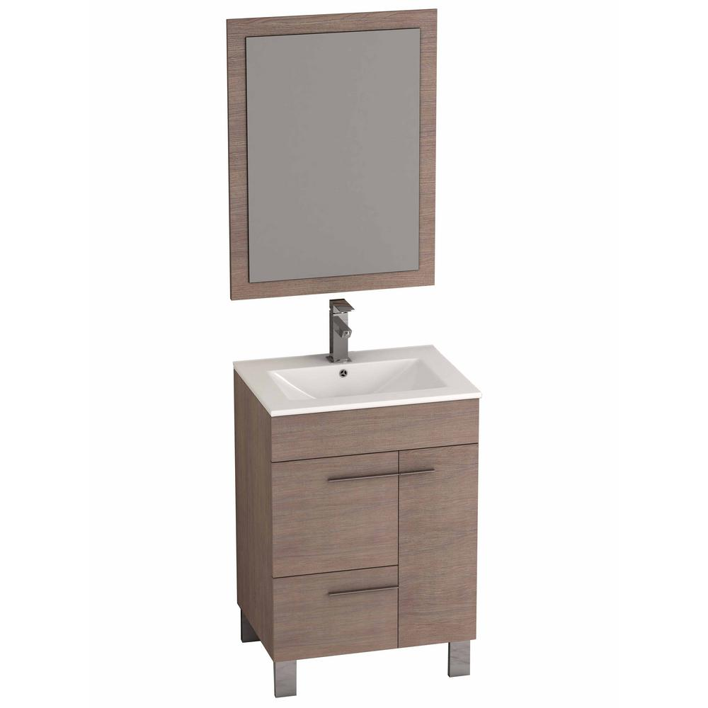 Eviva cup 24 in w x 18 in d x 34 in h vanity in medium for Local bathroom vanities
