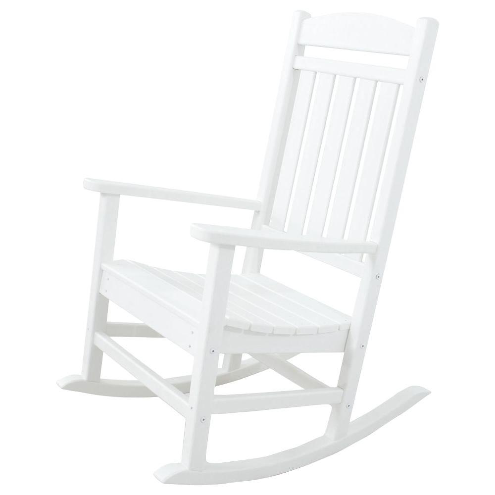 Ivy Terrace Classics White Patio Rocker Ivr100wh The