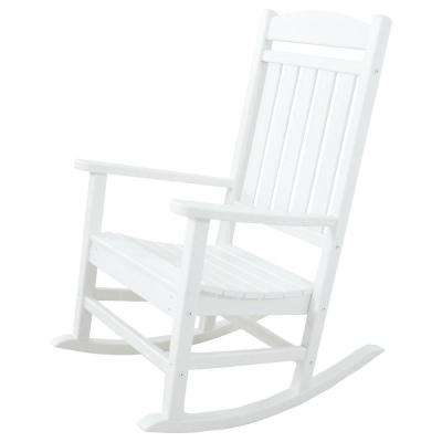 Clics White Patio Rocker