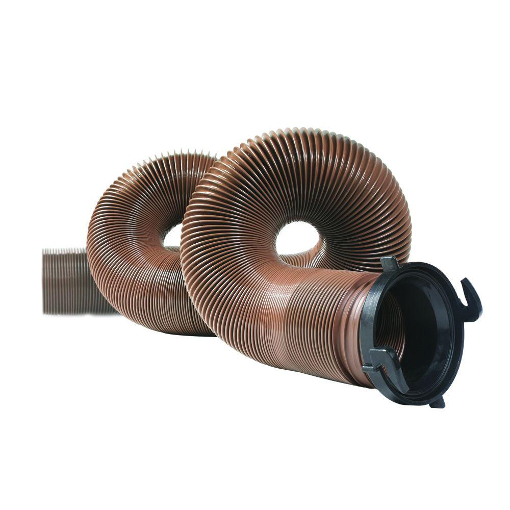 HTS 15 ft. Heavy Duty RV Sewer Hose with Pre-Attached Fitting