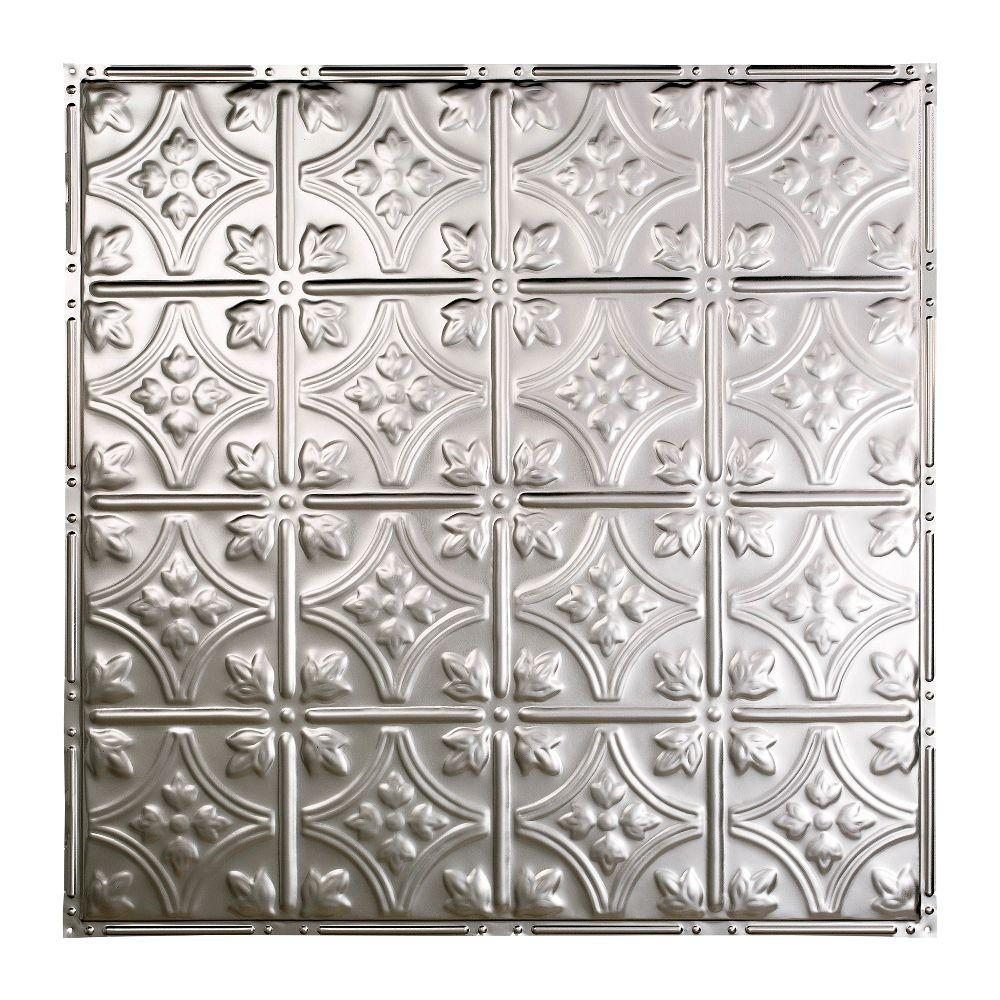 Great Lakes Tin Hamilton 2 Ft X Nail Up Ceiling Tile In Gloss White T52 00 The Home Depot