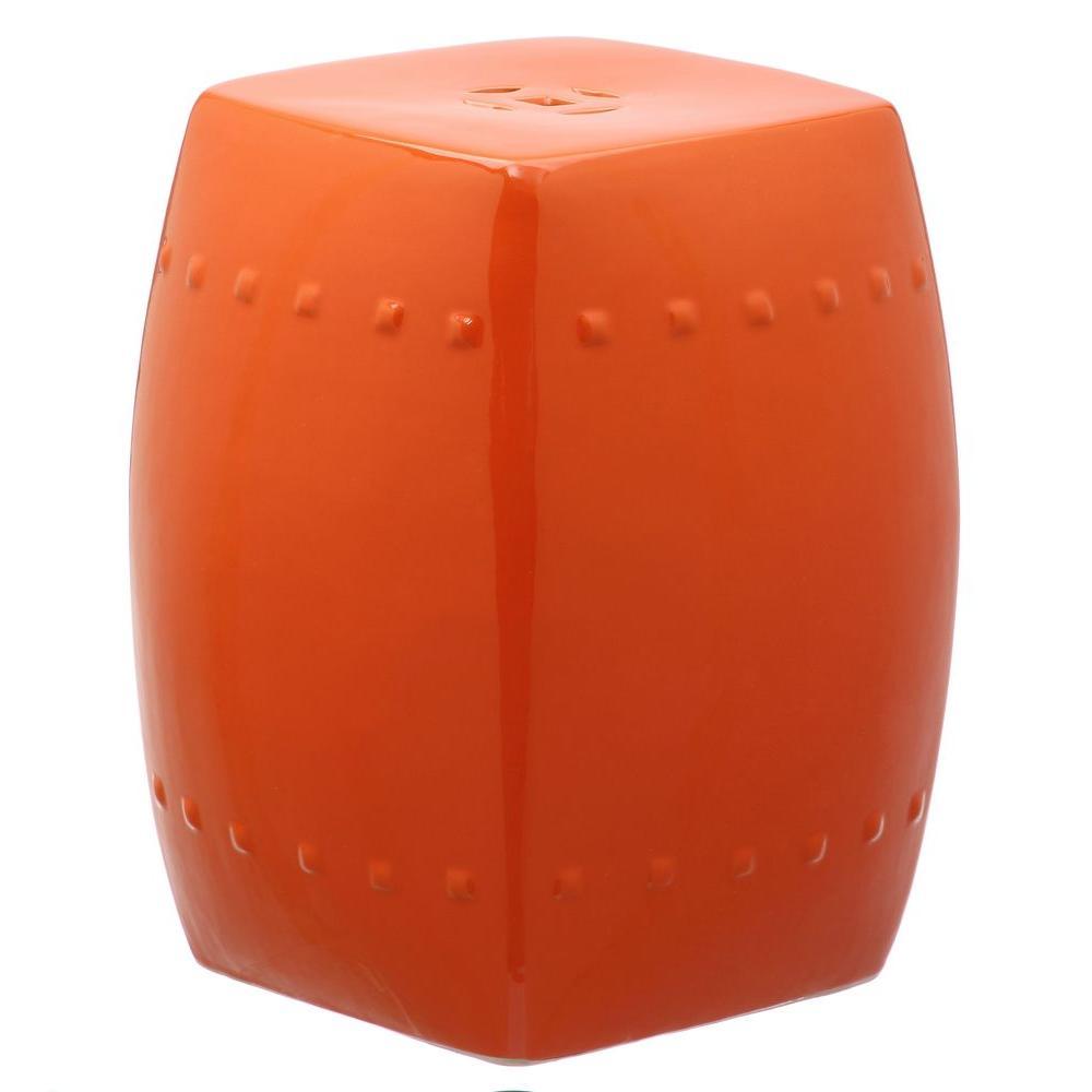 Villa Orange Ceramic Garden Stool