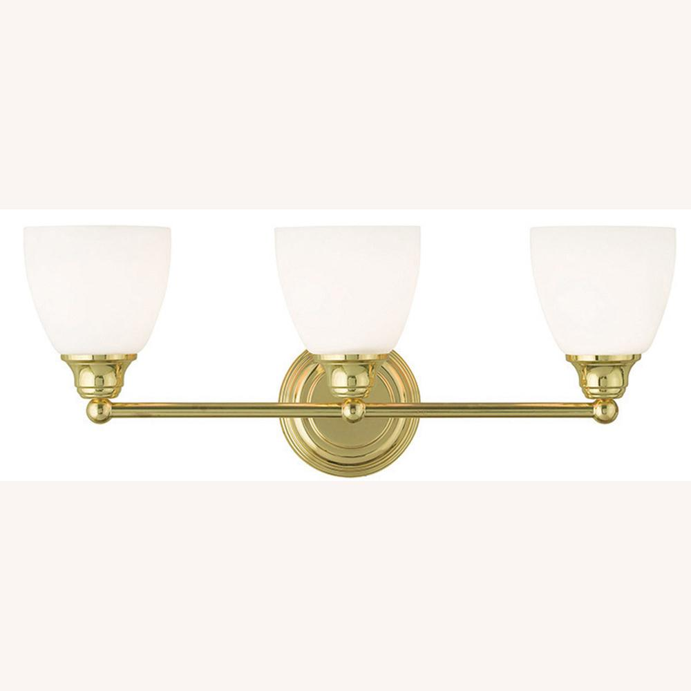 Livex Lighting Somerville 3 Light Polished Brass Bath Light 13663 02 The Home Depot