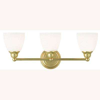 Somerville 3-Light Polished Brass Bath Light