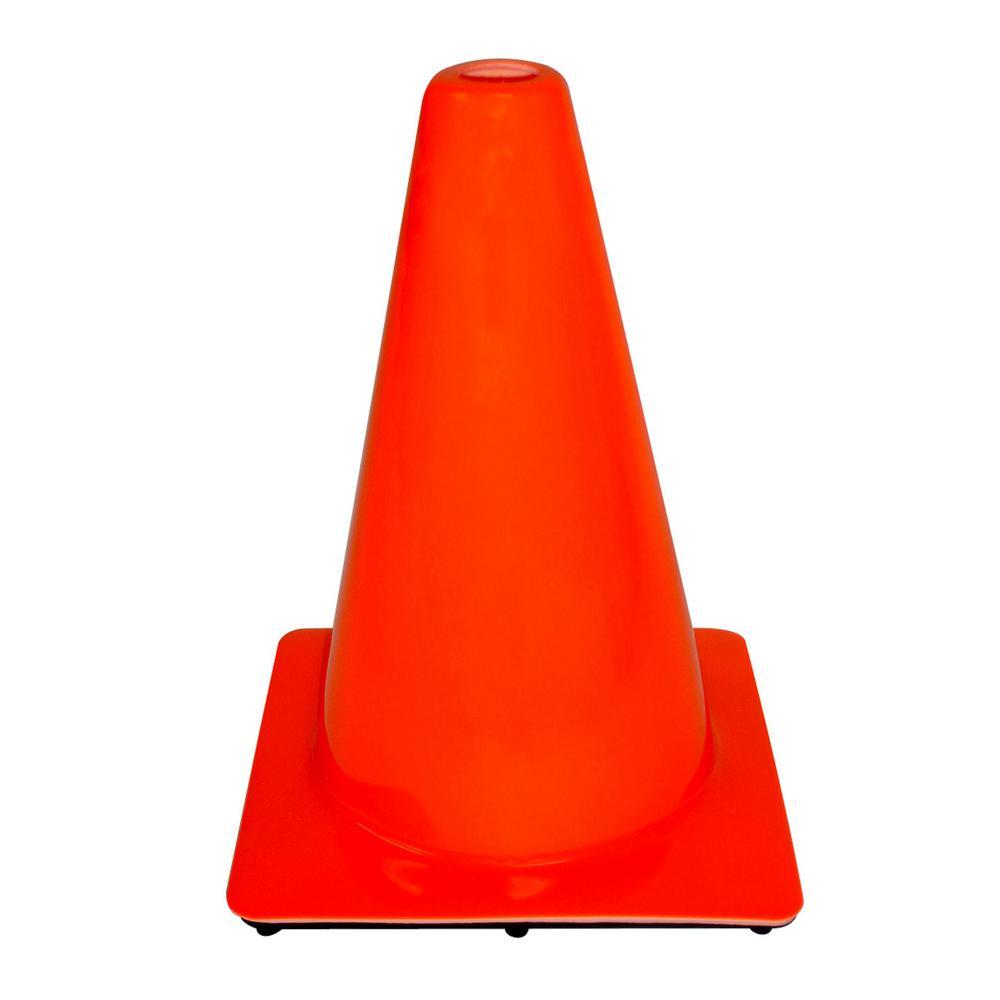 3M 12 in. Orange PVC Non Reflective Safety Cone