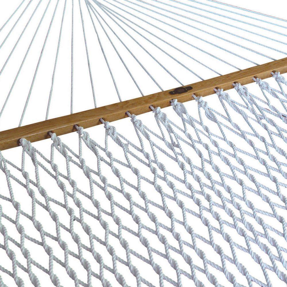 Pawleys Island 13 ft. Polyester Single Rope Hammock White by Pawleys Island