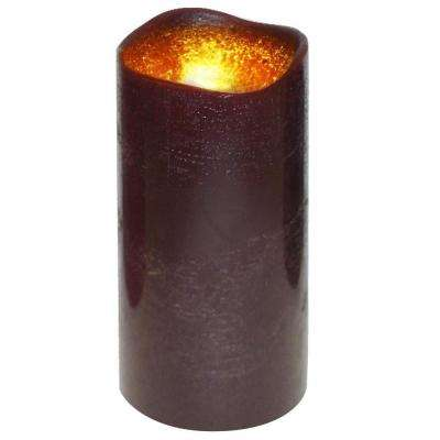 3 in. x 6 in. Flameless Lattice Dark Brown Candle